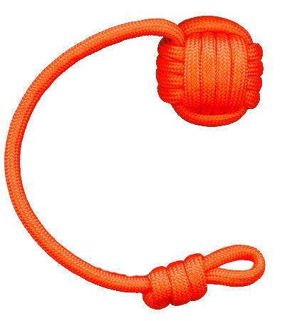 Keychain Neon Orange The Monkey Fist #2: neonorange